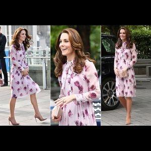 BNWT Kate Spade Encore Rose Chiffon Dress